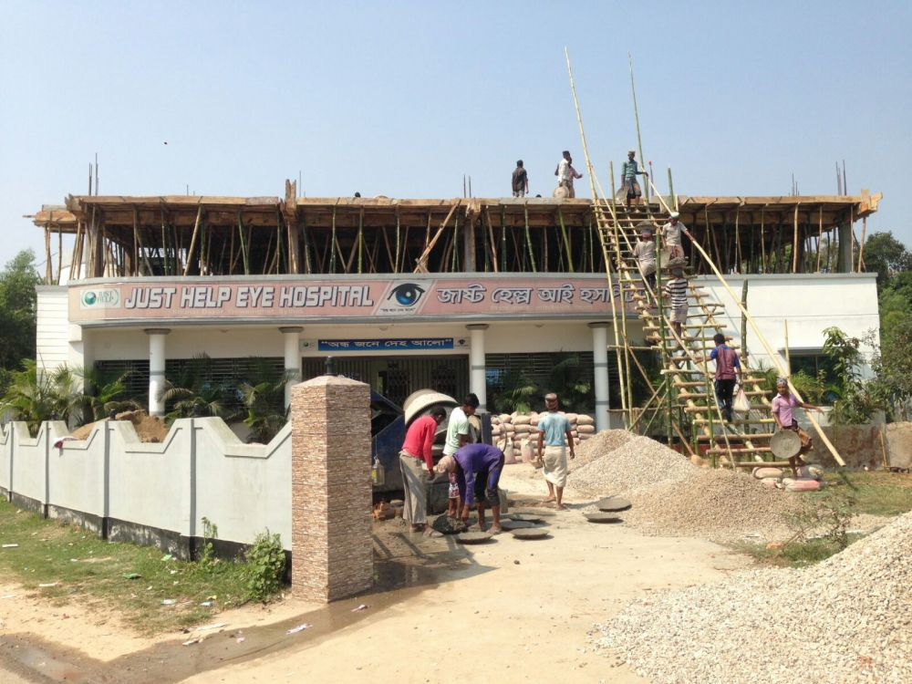 first floor construction under way at just help eye hospital