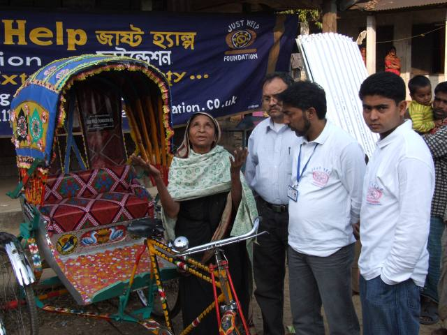 Widow Recieved a Rickshaw